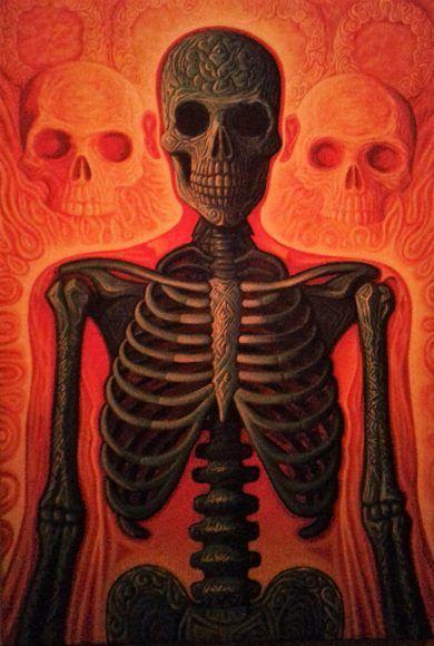 El artista Ricardo Can inauguró su primera exposición pictórica individual en la galeria Karne Korp en el Centro