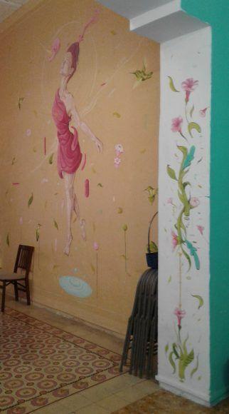 Mural dentro del centro cultural