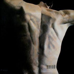 Autoespalda. Oleo sobre tela. 150 x 150 cm. 2008