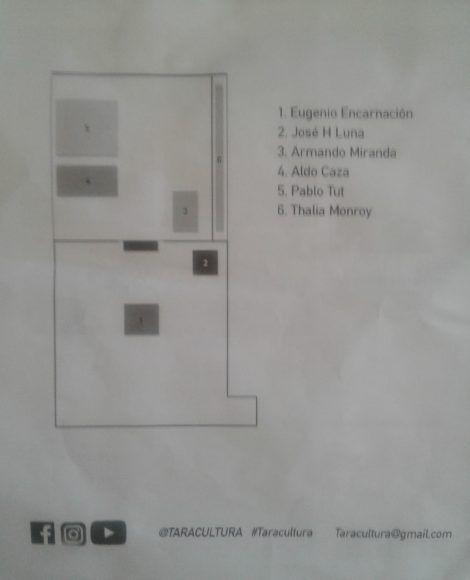 Croquis donde se muestra la distribución de las obras en el espacio