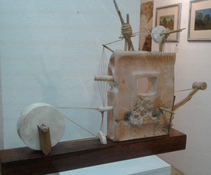 Jesús Peraza participó con una escultura