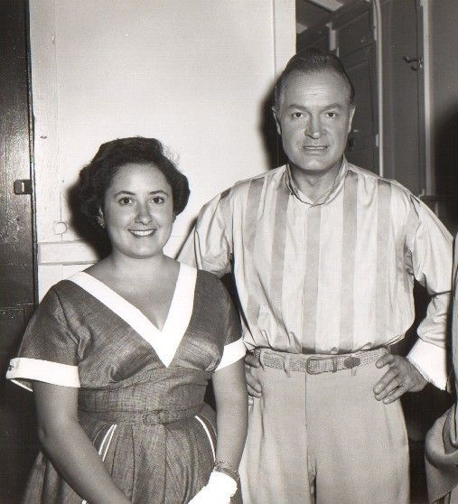 Chachita y el comediante Bob Hope