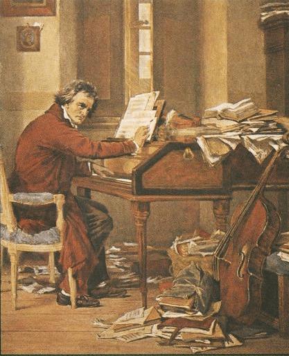 beethoven-componiendo