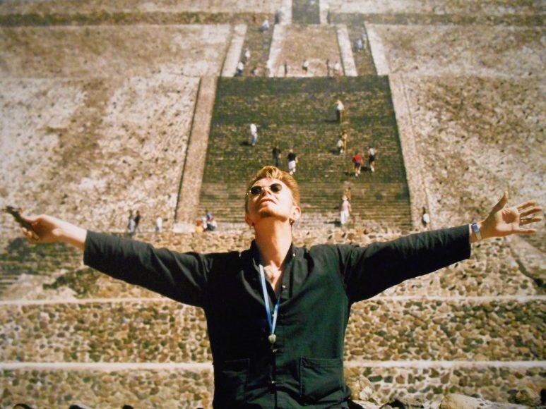 En las pirámides de Teotihuacán