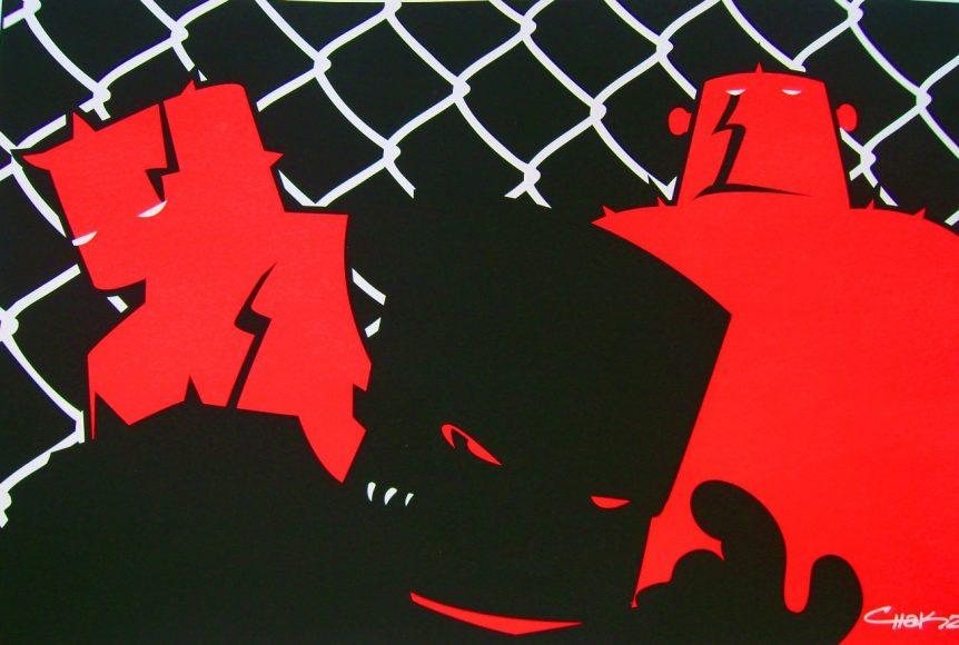 Three Robottos, 2009, serigrafía, limitado a 50 piezas.
