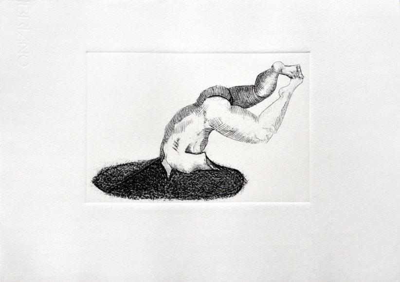 Serie Cabezas Negras, 2015 (Punta seca sobre acrílico y aditivos) Papel 25 x 35 cm Impreso en Taller de la Asociación Yucateca de Grabado y Litografía A.C. Mérida, Yucatán. Tiraje: 11 ejemplares.