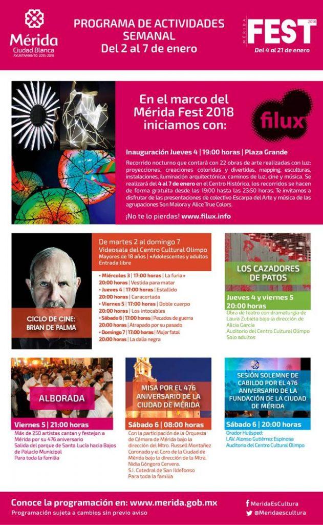 Mérida Fest del 2 al 7 de enero